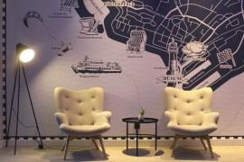 Im Eingangsbereich gibt's an der Wand eine überdimensionale Karte mit den Büsumer Highlights
