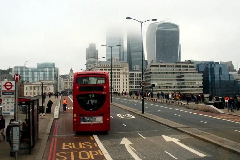 Silvester in London: Das kann auch mal nebelig sein