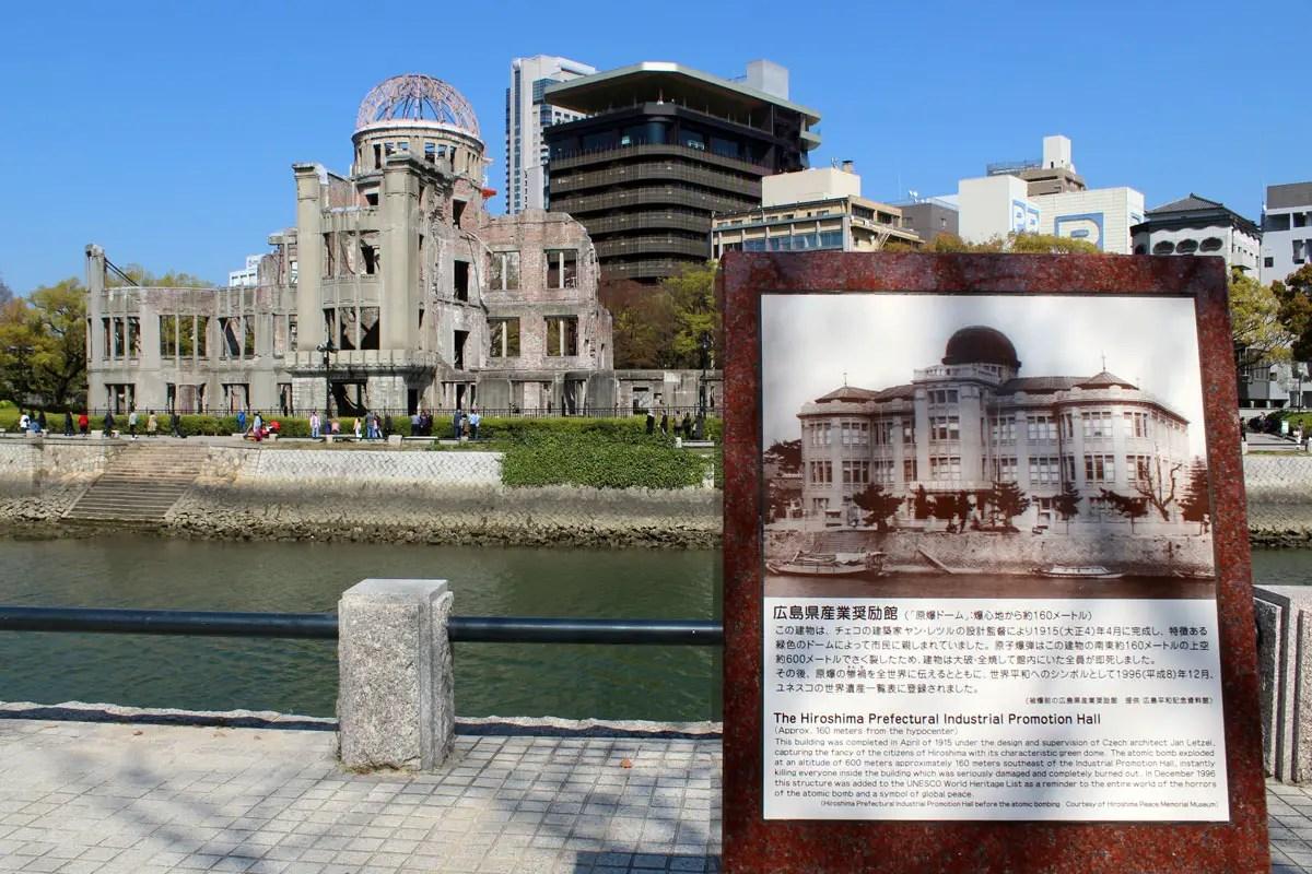 Die Überreste der ehemalige Handelskammer erinnern an den Atombombenabwurf