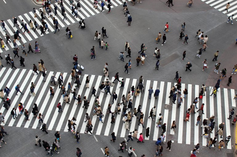 Die Shibujya-Kreuzung gilt als größte Kreuzung der Welt