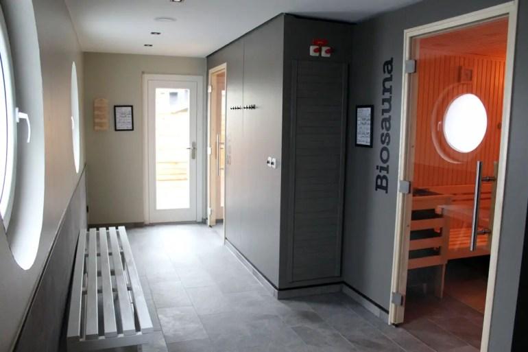 Kein aber fein: der Sauna-Bereich im Hotel Heimathafen