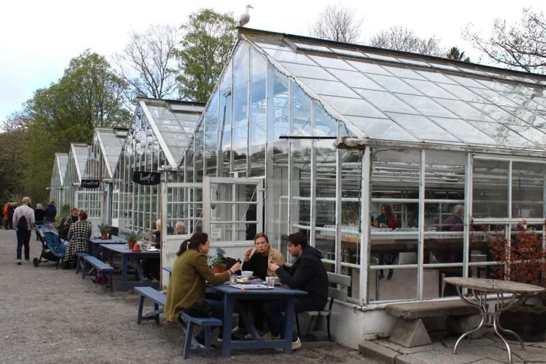 Im Gewächshaus des Parks Rosendals Trädgård findest du das süße Cafe