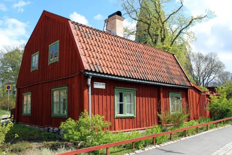 Eines der alten Häuser in Södermalm