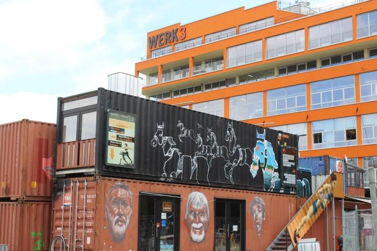 Container trifft Streetart im Münchner Werksviertel