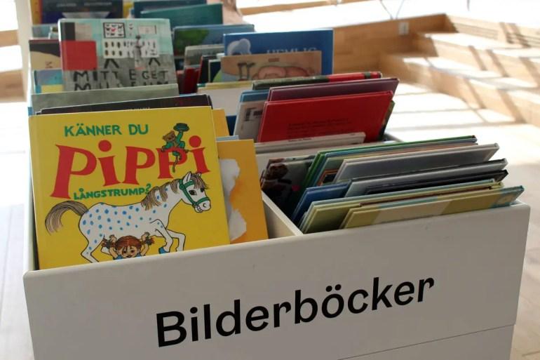 Auch Pippi Langstrumpf darf in der Bibliothek natürlich nicht fehlen