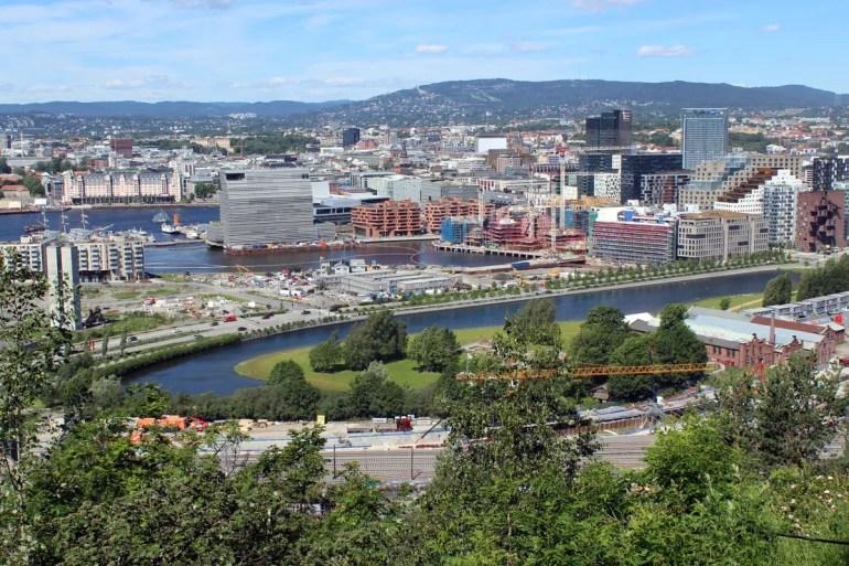 Vom Ekelandpark hast du einen tollen Blick über Oslo