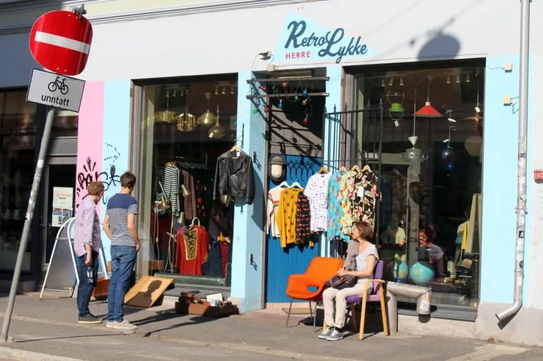 In Grünerlokka findest du viele Boutiquen, Bars und Restaurants
