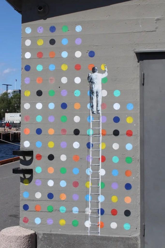 Streetart in Oslo rund um den Hafen