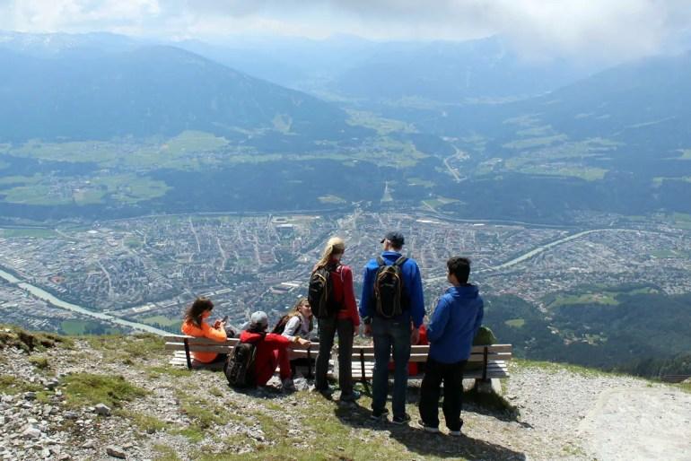 Vom Hafelekar hast du einen tollen Ausblick auf Innsbruck