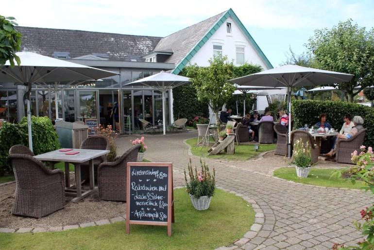 Das Café Ingerwsen in Morsum hat einen tollen Garten