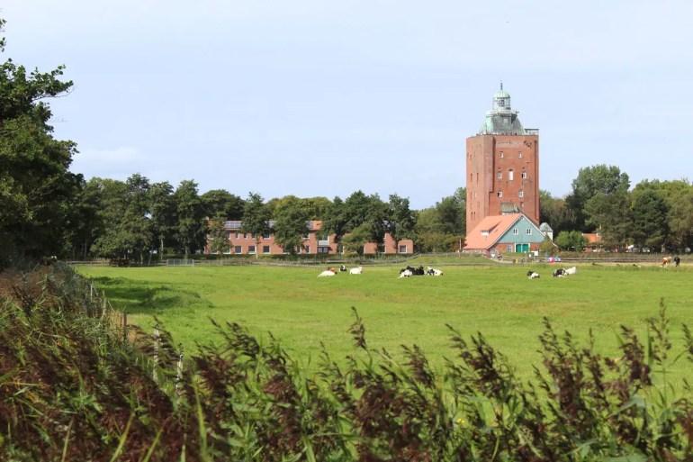 Der Leuchtturm ist das Wahrzeichen der Insel Neuwerk