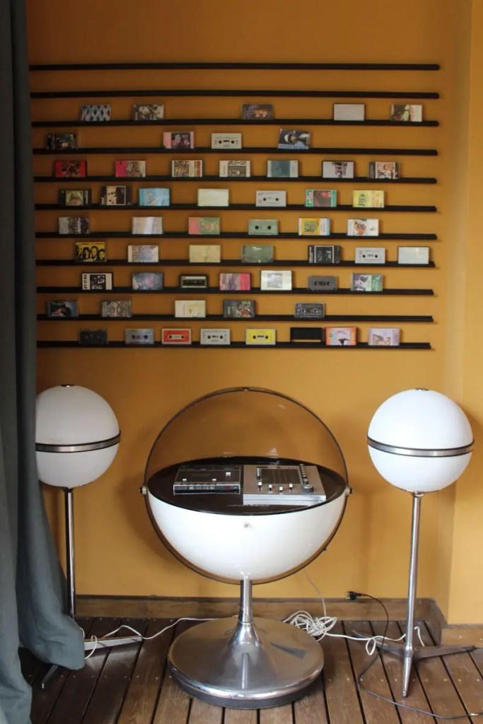 Und auch Kassetten gibt's im Vinyl Room