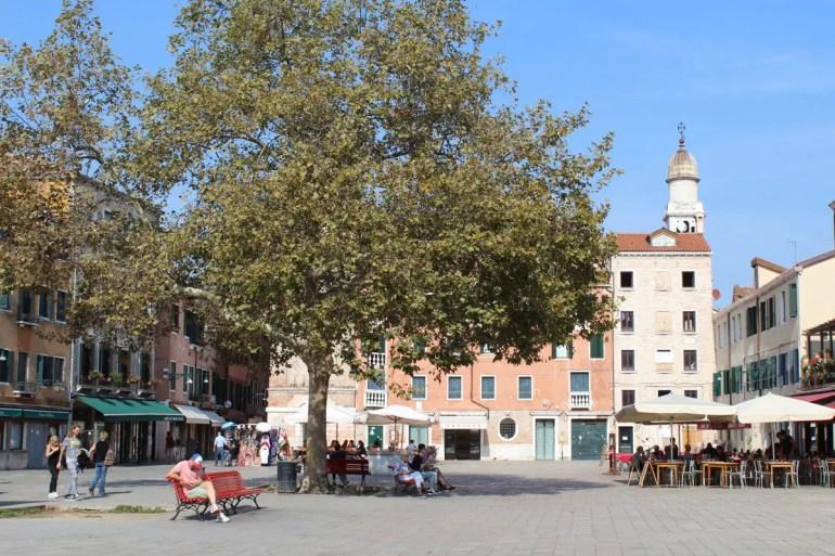 Ruhig und trotzdem belebt: der Campo Santa Margherita