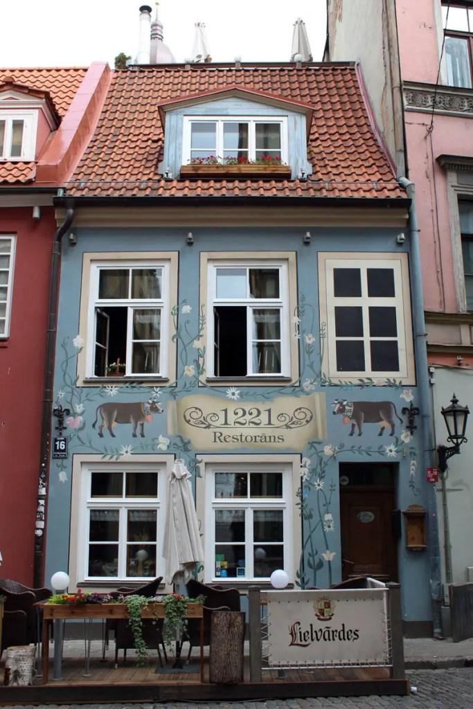 Das Restaurant 1221 gehört zu Rigas meistfotografierten Gebäuden
