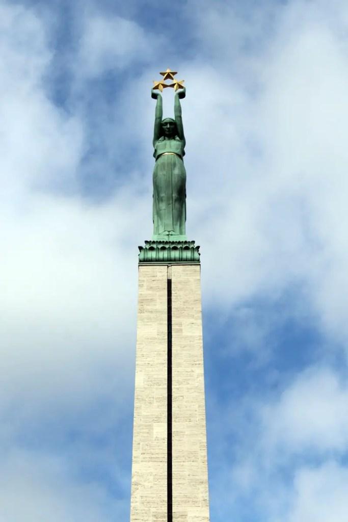 Das Freiheitsdenkmal erinnert an Lettlands Unabhängigkeit