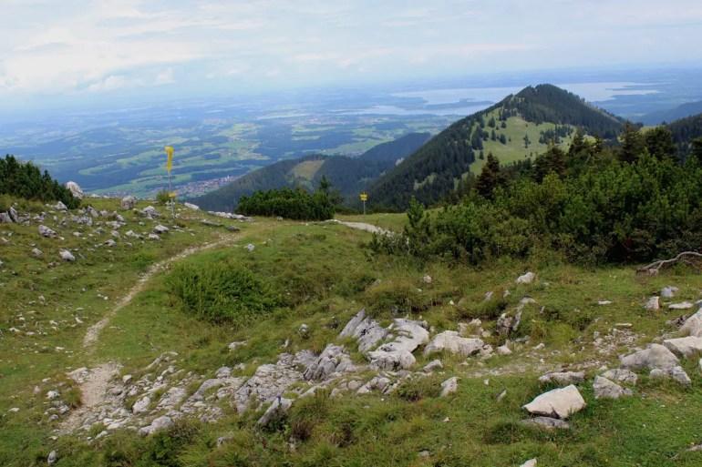 Toller Ausblick auf Chiemsee und Alpenvorland