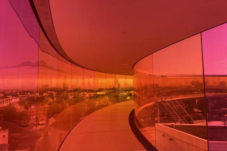 Der Künstler Olafur Eliasson entwickelte den Regenbogen über Aarhus