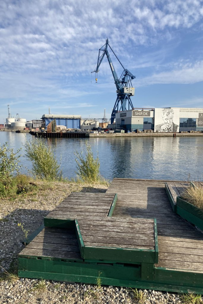 Der alte Industriehafen wird immer mehr ein Ort zum Relaxen