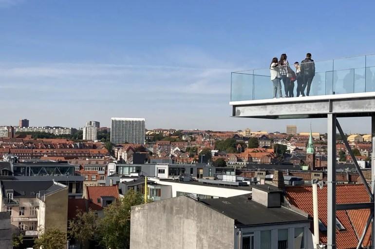 Nur für Schwindelfreie: die Aussichtsplattform im Salling Rooftop