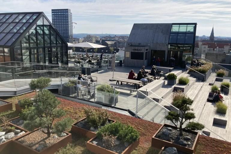 Von der Salling Rooftop Terrasse hast du einen tollen Blick über die Stadt