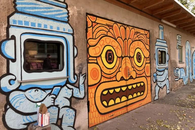 Im Kunstkraftwerk gibt's Street Art und digitale Kunst