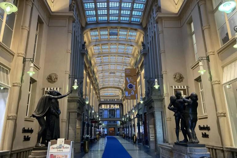 Die Mädler Passage mit Auerbachs Keller gilt als schönste Passage in Leipzig