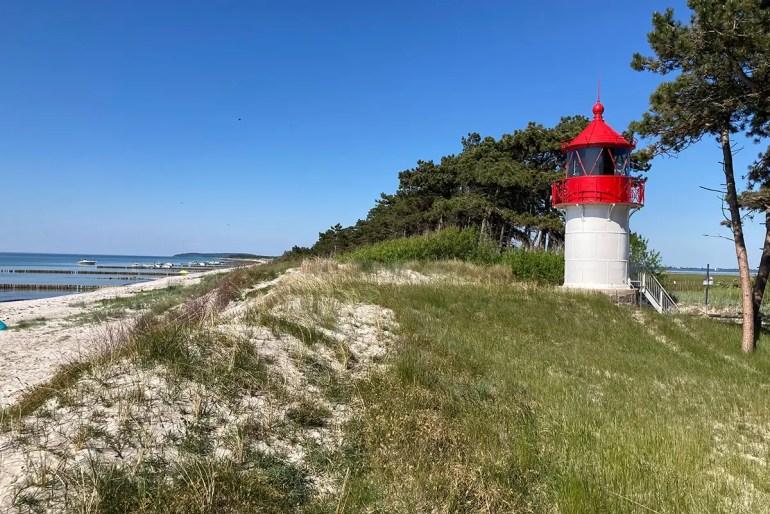 Der Leuchtturm Gellen ist ein weiteres Wahrzeichen von Hiddensee