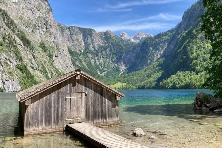 Der malerische Obersee gilt als einer der schönsten Bergseen Deutschlands