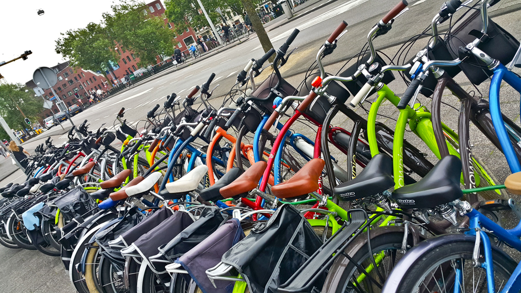 Image result for . There are more bikes than people here.