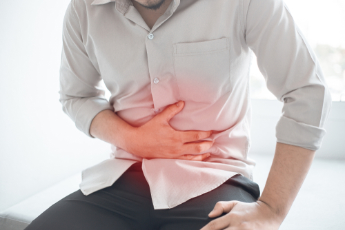 man with abdominal pain