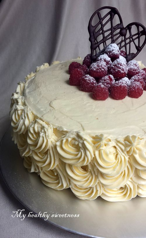heart layer cake chocolat blanc framboise