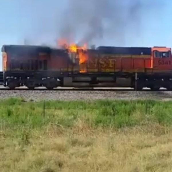 train fire courtesy Ronnie Darlene Marez, Facebook 6-26-17_1498498774521.jpg