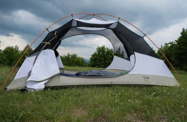 tent, camping, grass