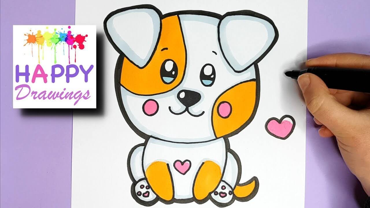 How To Draw A Cute Puppy Easy Step By Step Myhobbyclass Com