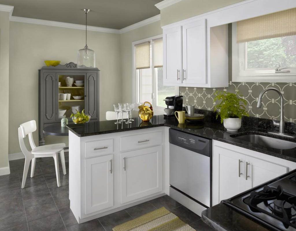 Brilliant Color Schemes for 2019 Small Kitchens - Pick ... on Best Small Kitchens  id=38151