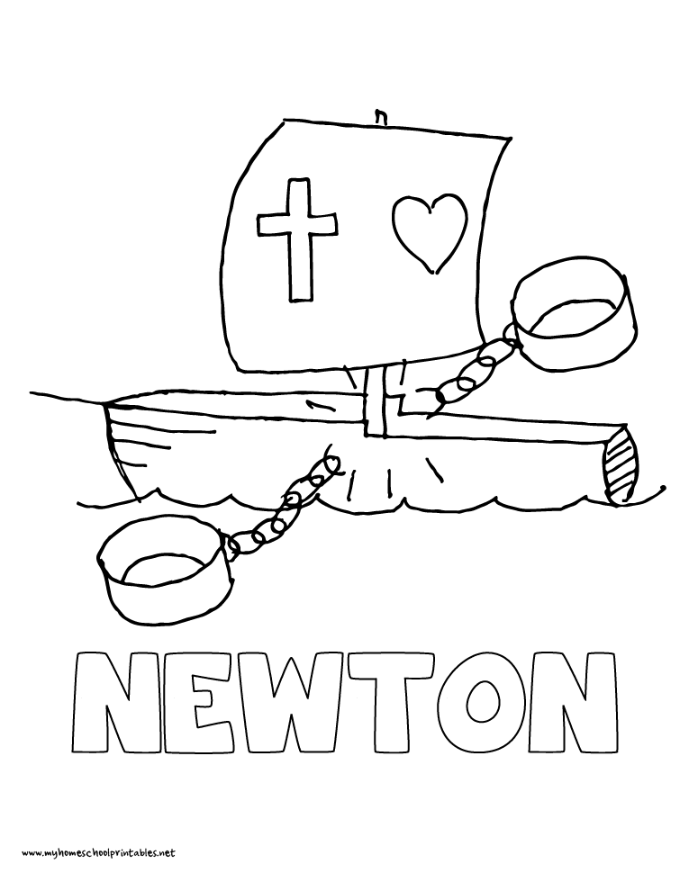 Coloring Page Newton Fire Dept
