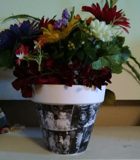 photo flower pot for grandmas