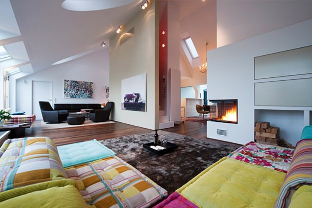 Attic living design by Junger & Beer 02