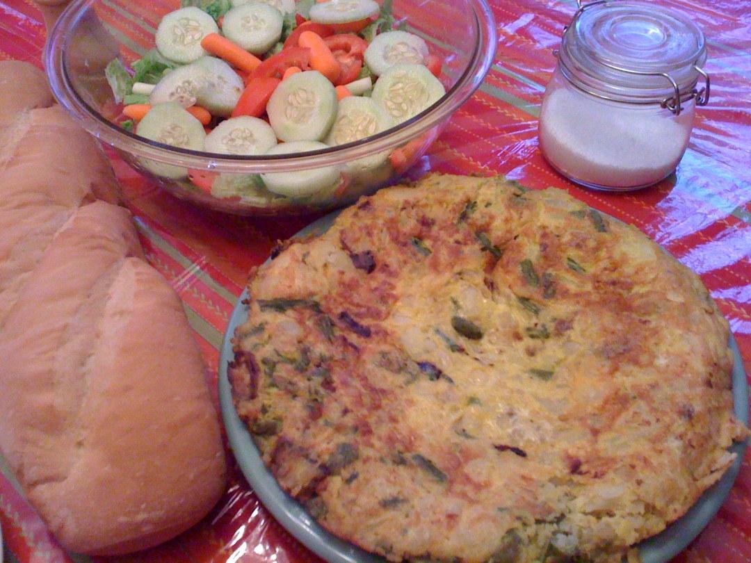 Spanish Tortilla with Asparagus | myhumblekitchen.com