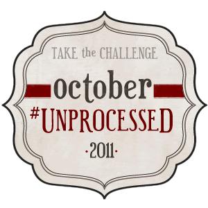 I've pledged to October #Unprocessed