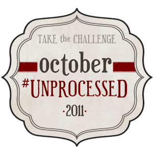 I've pledged to October #Unprocessed