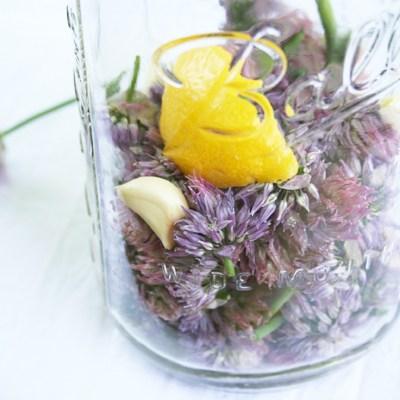 How to Make Chive Blossom Vinegar