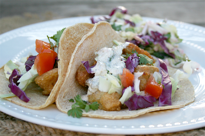 Baja Style, Beer Battered Fish Tacos