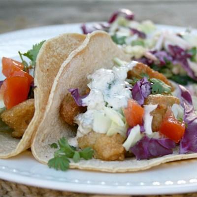 Baja Style, Beer Battered Fish Tacos