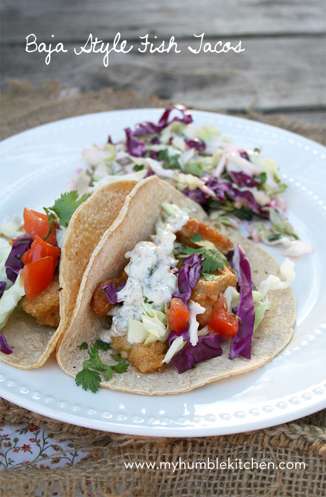 Baja Style, Beer Battered Fish Tacos | myhumblekitchen.com