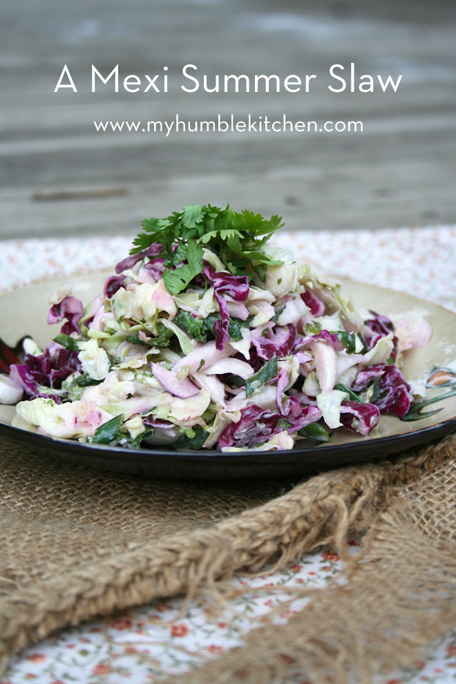 A Mexi Summer Slaw - My Humble Kitchen