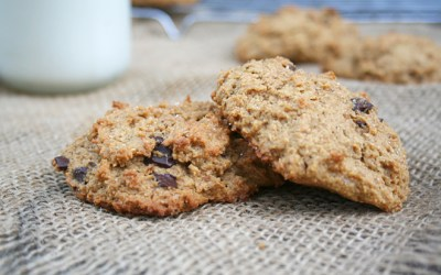Whole Wheat, Pumpkin Peanut Butter Cookies with Dark Chocolate