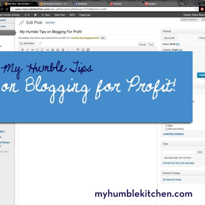 My Humble Tips on Blogging For Profit
