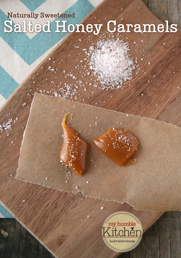Naturally Sweetened, Honey Salted Caramels | myhumblekitchen.com