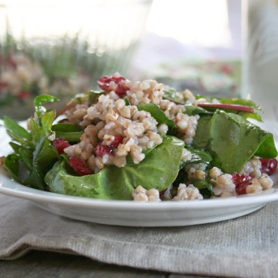 All About Buckwheat, A Roasted Buckwheat Salad with Dark Leafy Greens and Cranberries Recipe, and a Bob's Red Mill Giveaway!